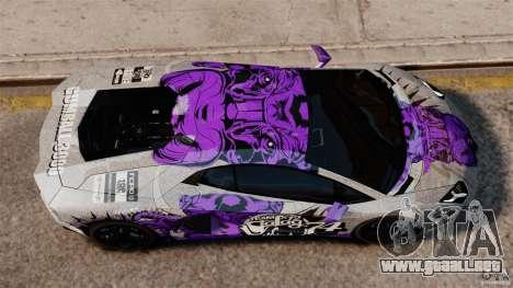 Lamborghini Aventador LP700-4 2012 Galag Gumball para GTA 4 visión correcta