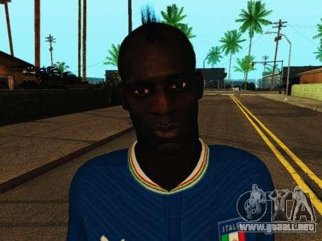 Mario Balotelli v4 para GTA San Andreas sexta pantalla
