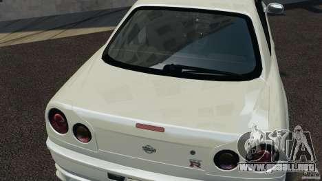 Nissan Skyline GT-R R34 para GTA 4 vista lateral