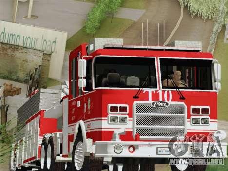 Pierce Arrow XT LAFD Tiller Ladder Truck 10 para GTA San Andreas left