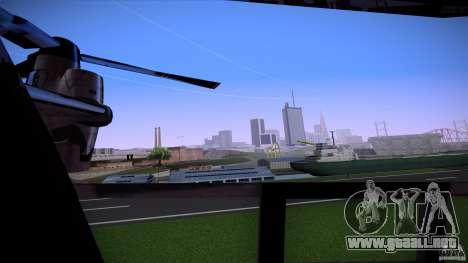 First Person Mod v2 para GTA San Andreas sucesivamente de pantalla