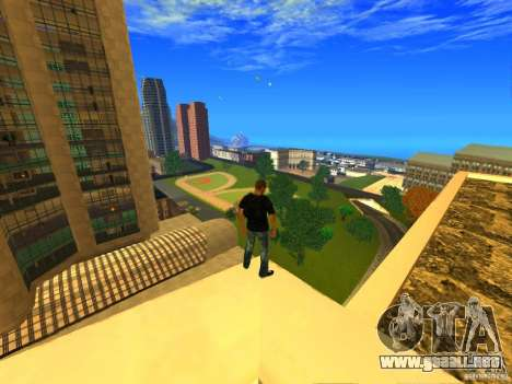 Global Parachute Mod para GTA San Andreas segunda pantalla