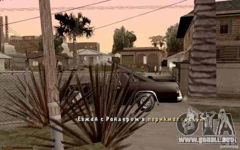 Nuevo tipo de letra para GTA San Andreas octavo de pantalla