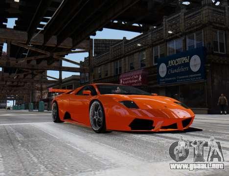 Lamborghini Murcielago RSV FIA GT1 para GTA 4 Vista posterior izquierda