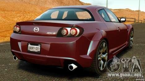 Mazda RX-8 R3 2011 para GTA 4 Vista posterior izquierda