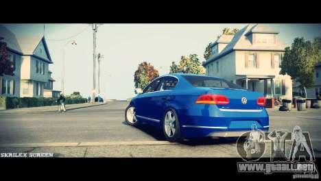 VW Passat B7 TDI Blue Motion para GTA 4 vista hacia atrás