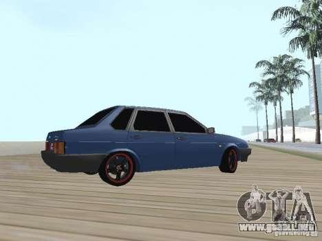 VAZ 21099 v2 para GTA San Andreas vista posterior izquierda