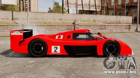 Toyota GT-One TS020 para GTA 4 left