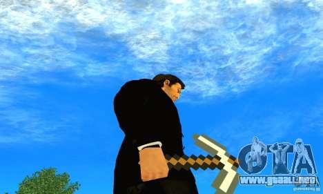 Escoger el juego Minecraft para GTA San Andreas tercera pantalla