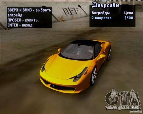 Ferrari 458 Italia V12 TT Black Revel para vista lateral GTA San Andreas