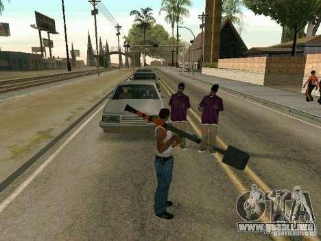 Lopatomët para GTA San Andreas quinta pantalla
