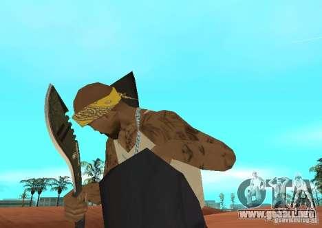 Khukuri para GTA San Andreas segunda pantalla