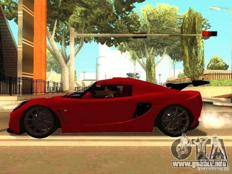 Lotus Exige 240R para GTA San Andreas vista hacia atrás