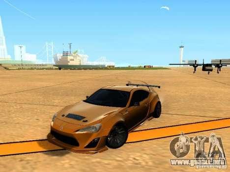 Toyota FT86 Rocket Bunny V2 para vista lateral GTA San Andreas