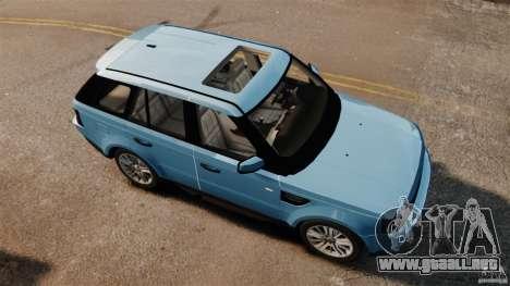 Land Rover Range Rover Sport Supercharged 2010 para GTA 4 visión correcta
