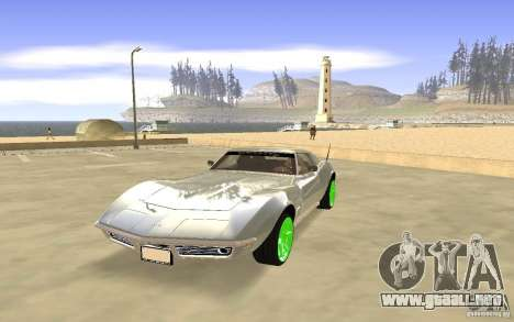 Chevrolet Corvette Stingray Monster Energy para GTA San Andreas left