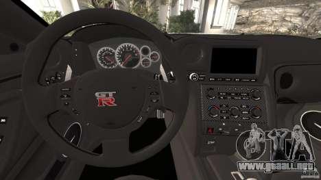 Nissan GT-R 2012 Black Edition para GTA motor 4