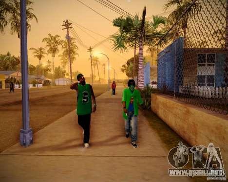 Skins pack gang Grove para GTA San Andreas quinta pantalla