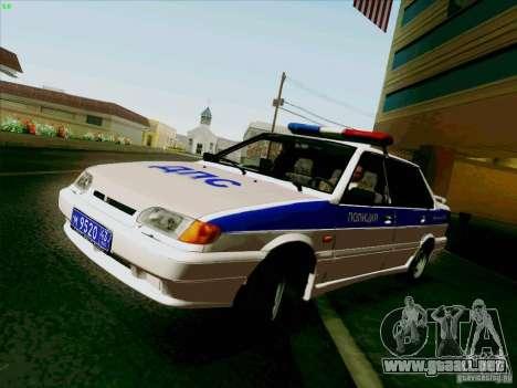VAZ 2115 policía para GTA San Andreas vista posterior izquierda