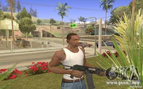 AK 101 para GTA San Andreas tercera pantalla