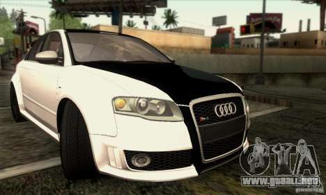 Audi RS4 para vista lateral GTA San Andreas