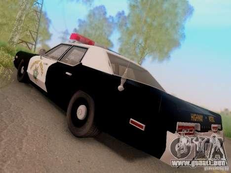 Dodge Monaco 1974 California Highway Patrol para GTA San Andreas left