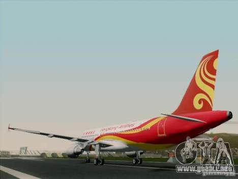 Airbus A320-214 Hong Kong Airlines para GTA San Andreas vista hacia atrás