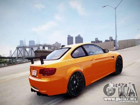 BMW M3 GT-S para GTA 4 Vista posterior izquierda