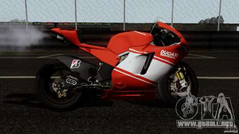 Ducati Desmosedici RR para GTA San Andreas left