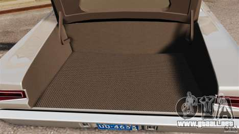 Dodge Coronet 1967 para GTA 4 vista superior
