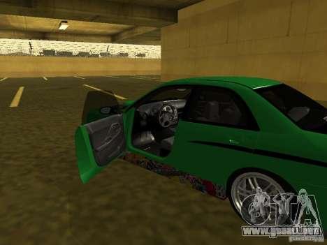 Subaru Impreza WRX para la vista superior GTA San Andreas