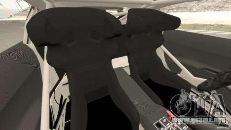 Audi R8 LMS para GTA 4 vista interior