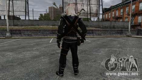 Geralt de Rivia v8 para GTA 4 tercera pantalla