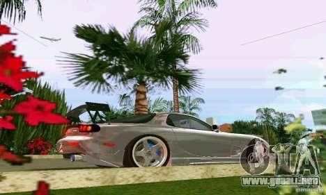 Mazda RX7 tuning para GTA Vice City vista posterior