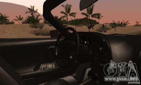 Toyota Supra Targa para visión interna GTA San Andreas