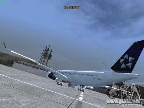 Airbus A330-300 Air Canada para GTA San Andreas vista posterior izquierda