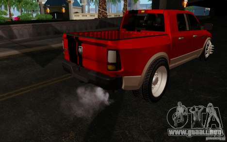 Dodge Ram 3500 Tuning para GTA San Andreas vista hacia atrás
