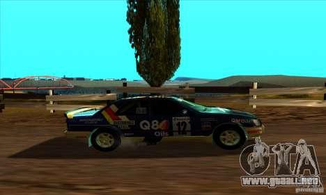 Ford Sierra RS500 Cosworth RallySport para GTA San Andreas vista posterior izquierda