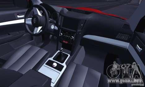 Subaru Legacy B4 2010 para vista inferior GTA San Andreas