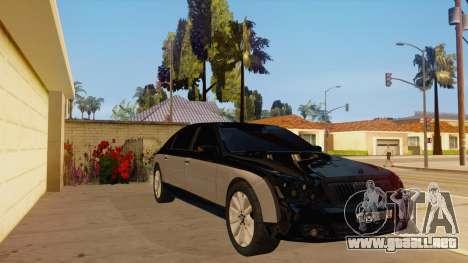 Maybach 62 para GTA San Andreas vista hacia atrás