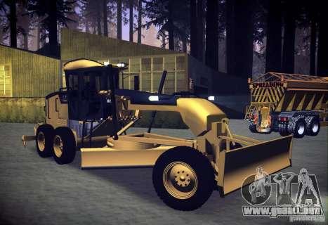 Caterpillar 140AWD Motorgrader para la visión correcta GTA San Andreas