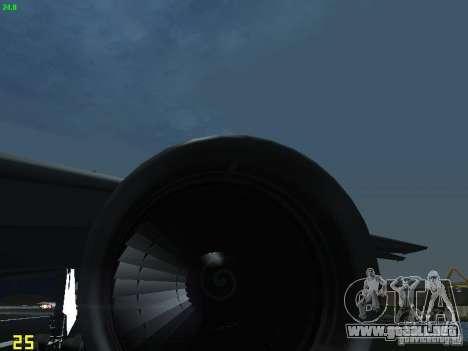 Boeing 767-300 AeroSvit Ukrainian Airlines para visión interna GTA San Andreas