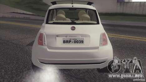 Fiat 500 Lounge 2010 para la visión correcta GTA San Andreas