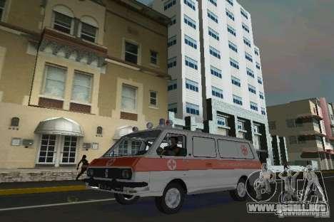 RAF-22031 ambulancia para GTA Vice City left