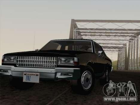 Chevrolet Caprice 1986 para vista inferior GTA San Andreas