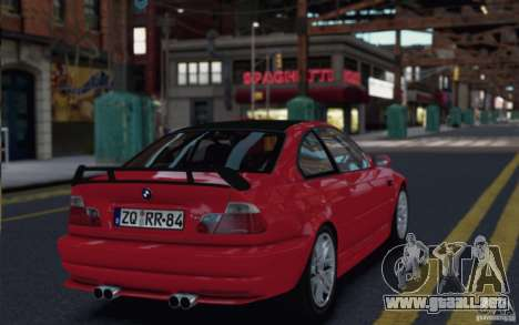 BMW M3 E46 Street Version para GTA 4 left