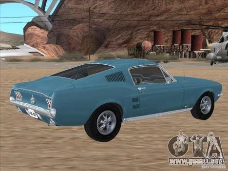 Ford Mustang Fastback 1967 para GTA San Andreas left