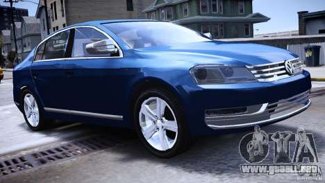 VW Passat B7 TDI Blue Motion para GTA 4 left