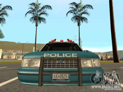 HD Police from GTA 3 para GTA San Andreas vista hacia atrás