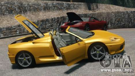 Ferrari 360 Spider 2000 para GTA 4 visión correcta
